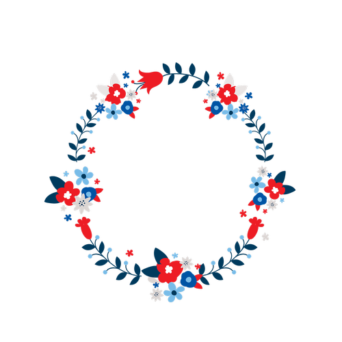 wreath  red  white
