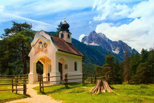 wreath mountain alpine mittenwald