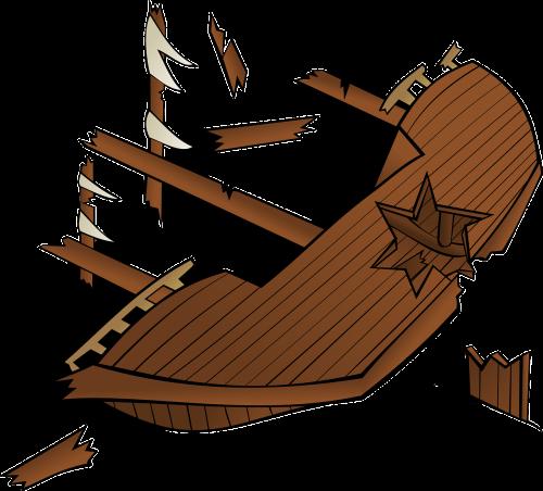 wreck ship sunken
