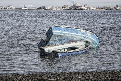 wreck boat hull