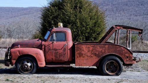 wrecker tow truck antique
