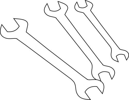 wrench hardware outline
