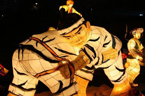 wrestling lantern festival cheonggyecheon stream