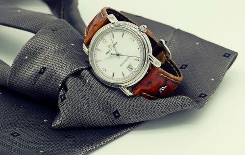 wrist watch clock tie