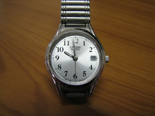 wristwatch watch silver