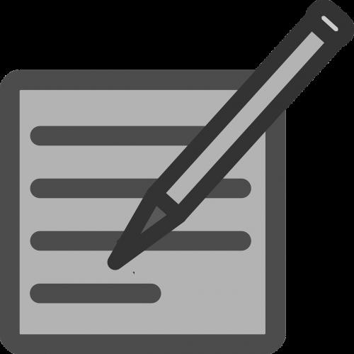 write author pencil