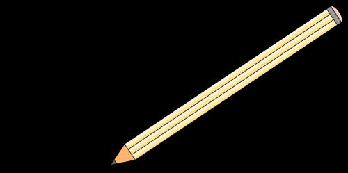 write writing pencil