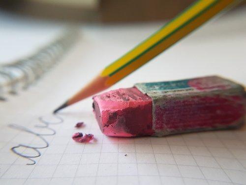 writing  learning  eraser