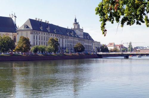 wrocław city the river odra