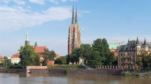 wroclaw river view