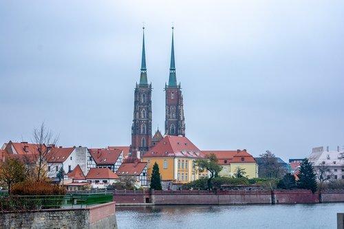 wroclaw  poland  tower