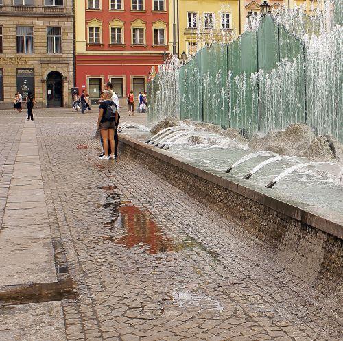wroclaw fountain fountain wrocław