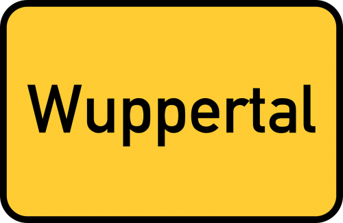wuppertal town sign city limits sign