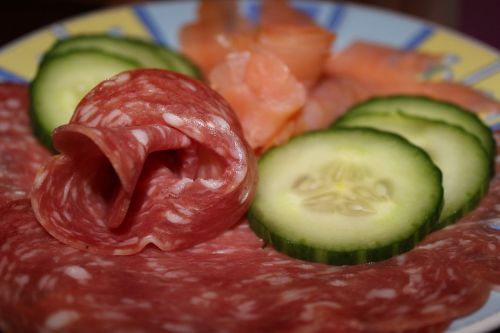 wurstplatte salami salmon