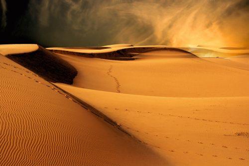 dykuma, smėlis, kraštovaizdis, saulė, saulėlydis, šviesa, nuotaika, oras, fonas, dykuma