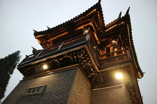 wuzhen turret at dusk
