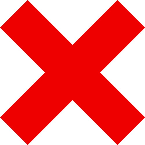 x red mark