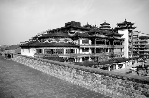 xi ' an walls black and white