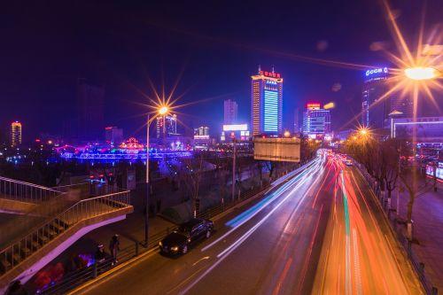 xining west main street night view