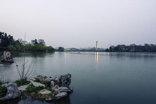 xuanwu lake twilight water features