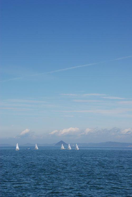 yacht setouchi blue sky