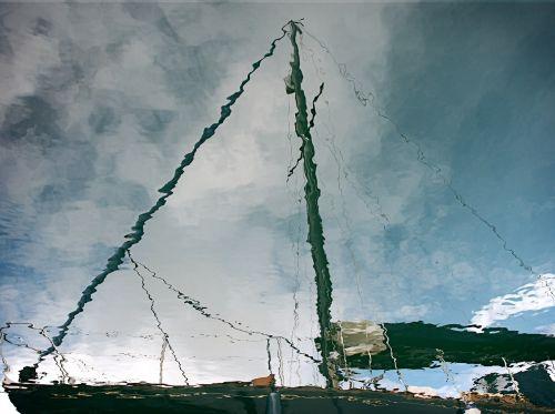 yacht sailboat reflection