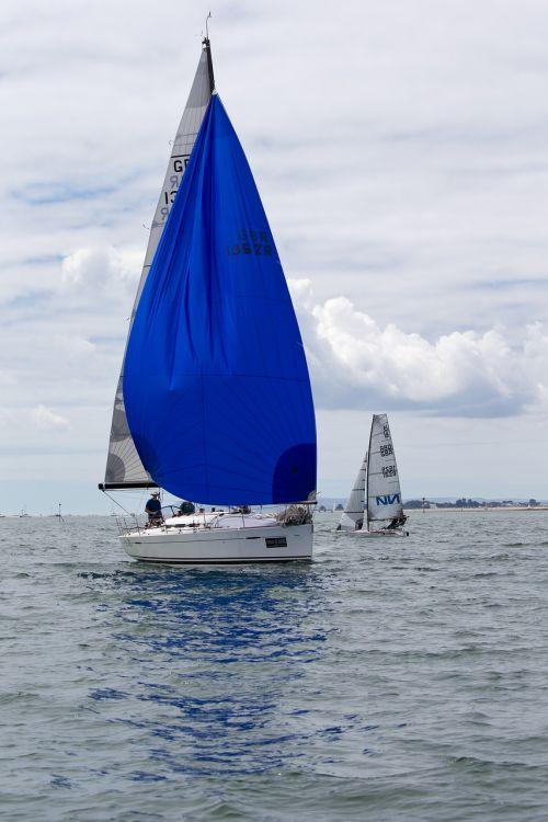 yacht blue spinnaker racing