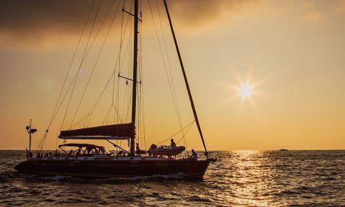 yacht sea sun