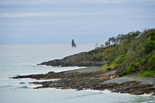 yacht  bluff  outcrop