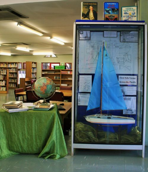 Yacht At Local Library Exhibit