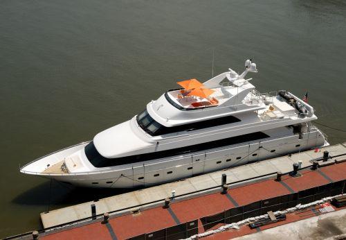 Yacht Docked At Savannah, Georgia