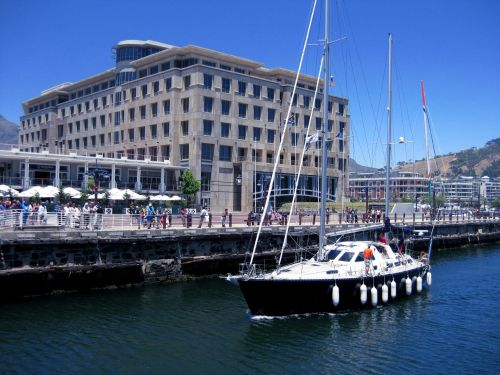 Yacht In Cape Town Harbour