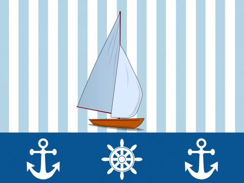 Yacht Nautical Wallpaper Design