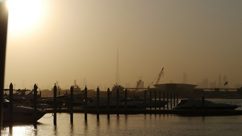 yachts  sunset  dubai