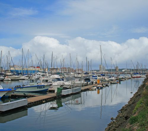 Yachts Moored To Jetty