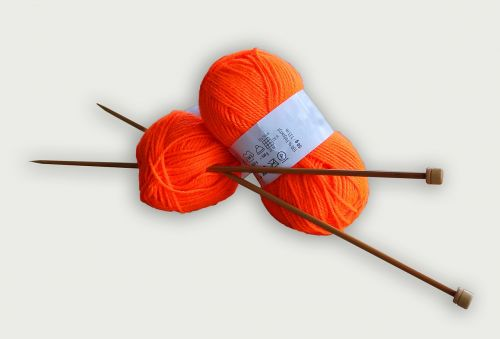 yarn knitting orange