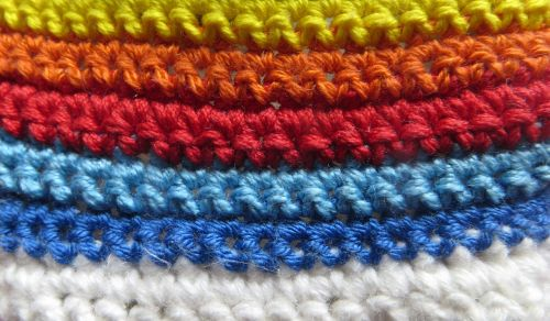 yarn stripes knitting