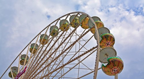 year market  ferris wheel  carousel