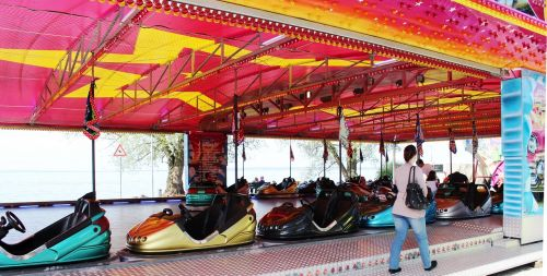 year market fairground bumper cars