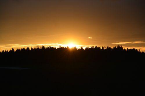 yellow sunset sky