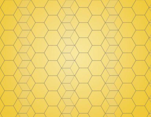 yellow background hexagon