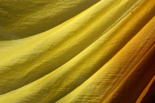 yellow fabric structure