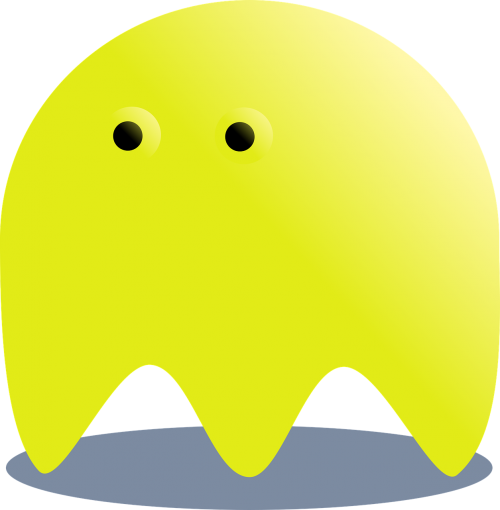 yellow ghost pacman