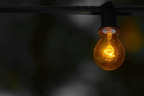 yellow warning bulb