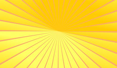yellow orange the rays