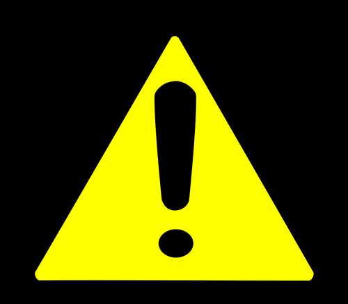 yellow triangle border