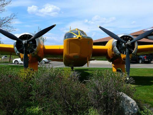 yellow plane aircraft