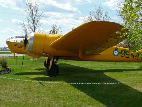 yellow airplane aircraft