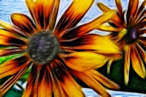 yellow flower artwork
