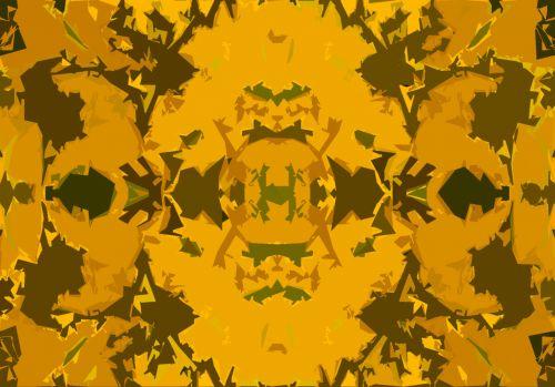 Yellow And Ochre Cutout Pattern